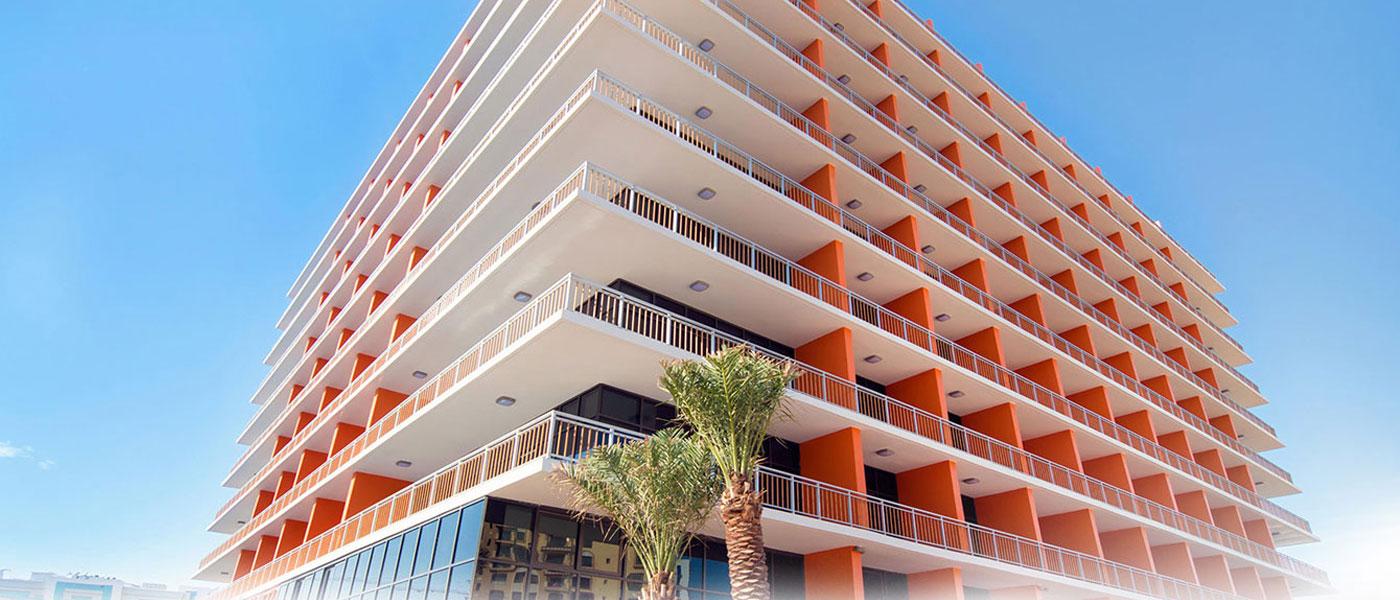 Offers elegantly designed apartments