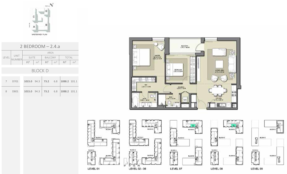 2 Bedroom - Size 1088.2 sq ft