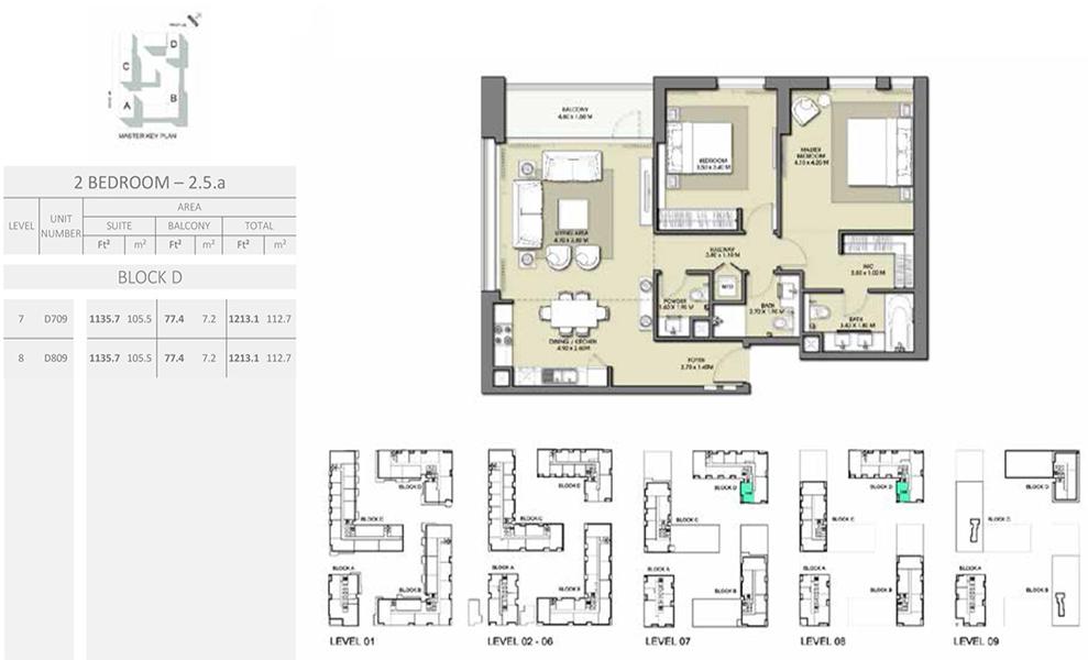 2 Bedroom - Size 1213.1 sq ft
