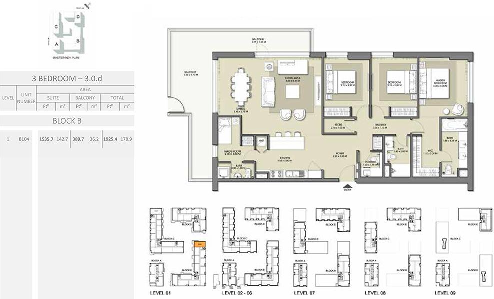 3 Bedroom - Size 1925.4 sq ft