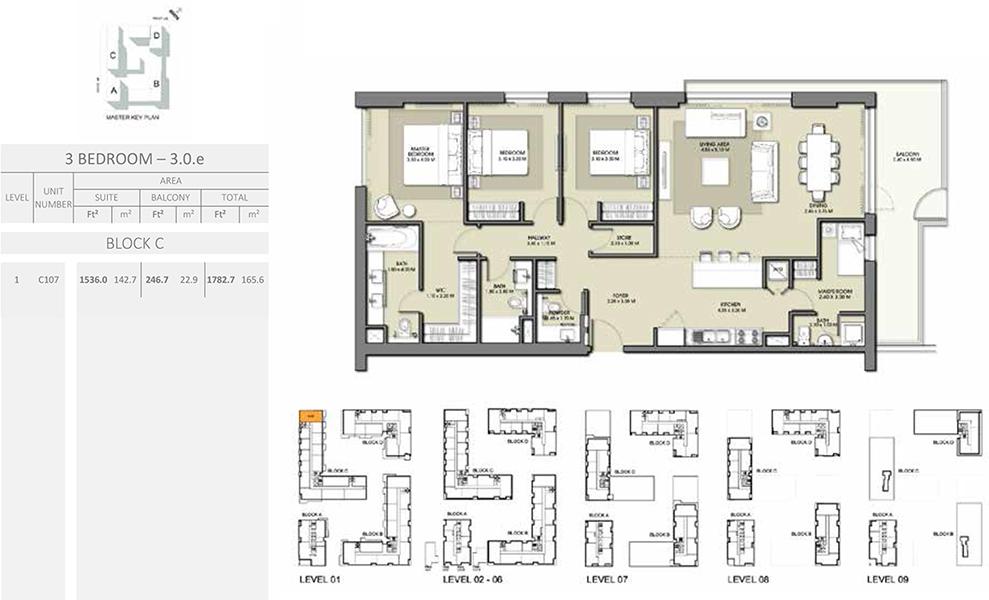 3 Bedroom - Size 1782.7 sq ft