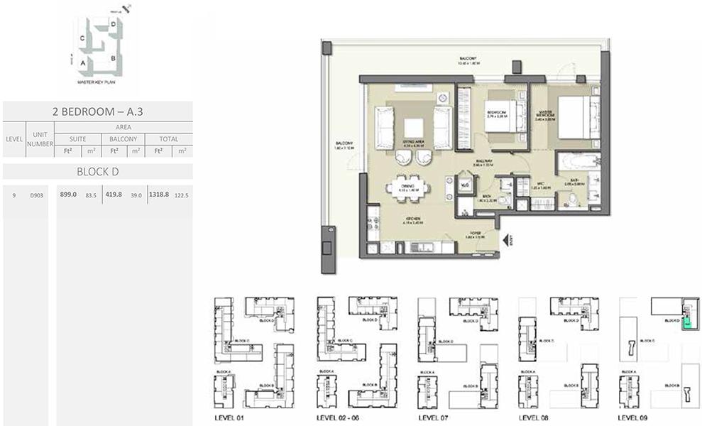 2 Bedroom - Size 1318.8 sq ft