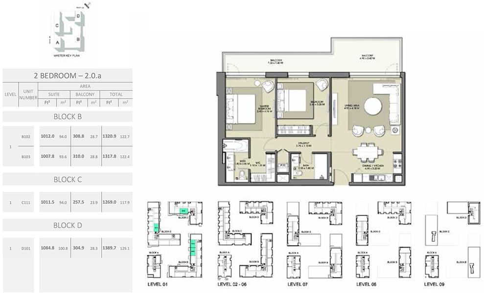 2 Bedroom - Size 1389.7 sq ft
