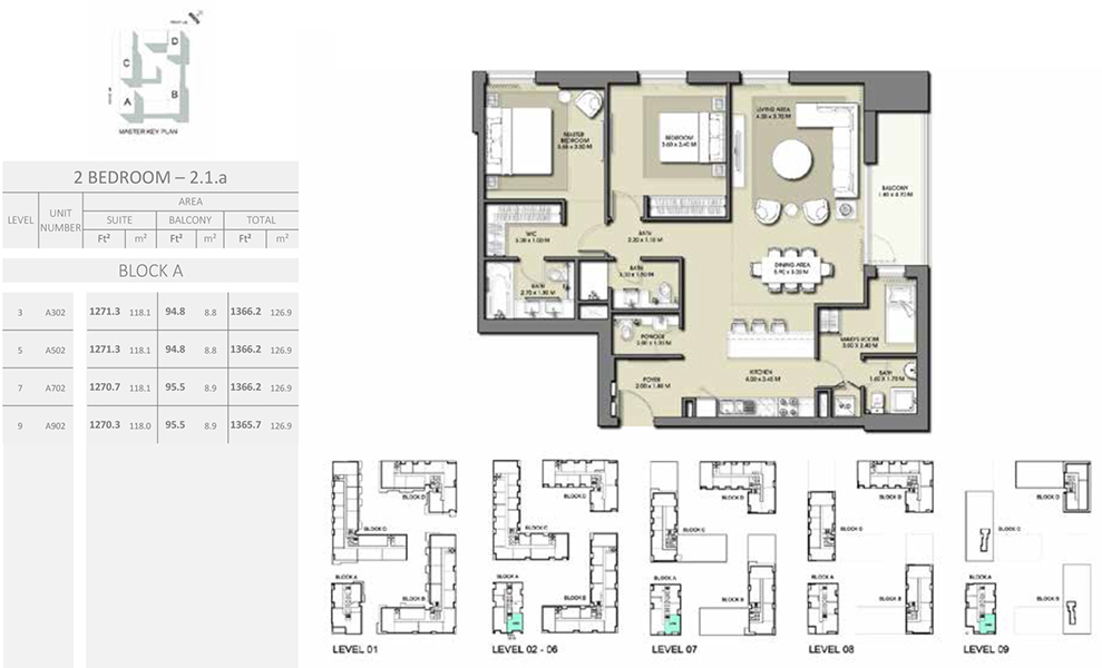 2 Bedroom - Size 1366.2 sq ft