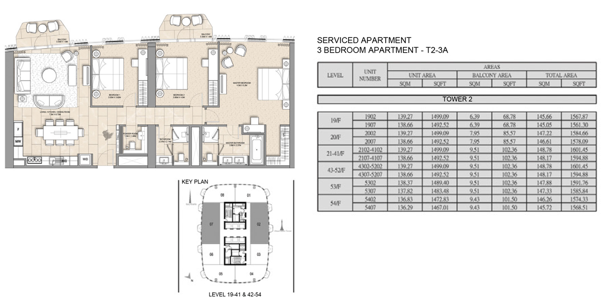 Serviced-Apartment-3 bed-T2-3A