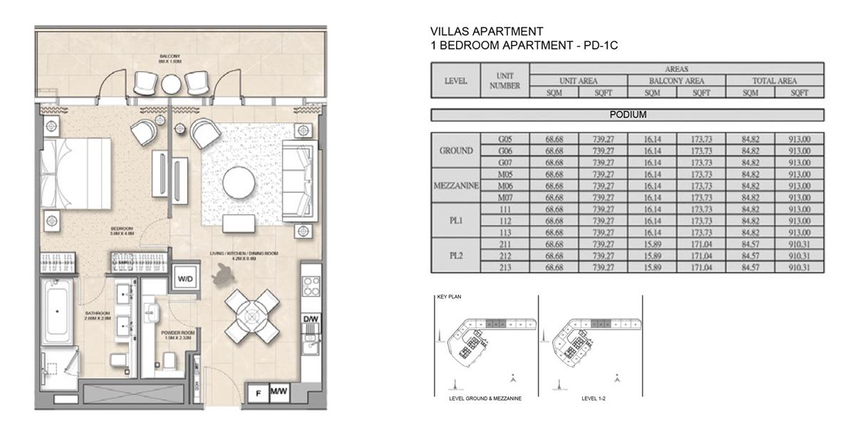 Villa-Apartment-1 Bed-PD-1C