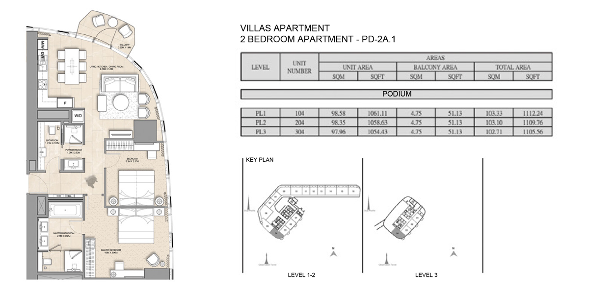 Villa-Apartment 2 bed-PD-2A.1