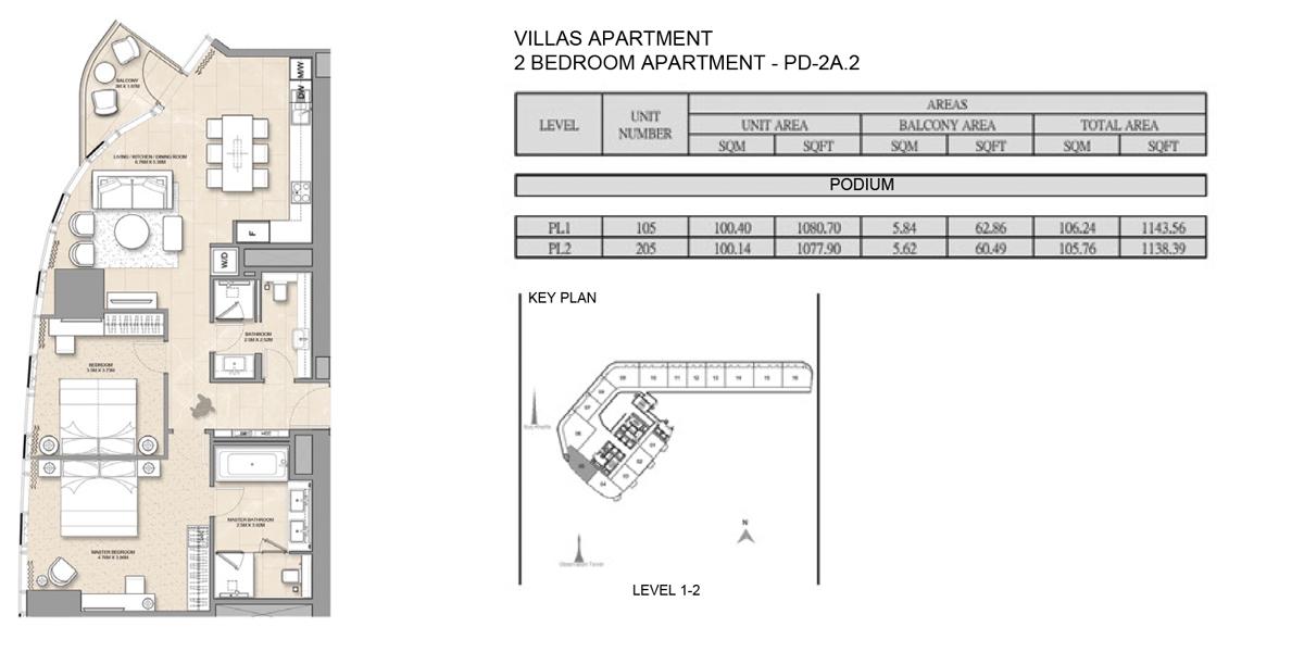 Villa-Apartment-2 bed-PD-2A.2