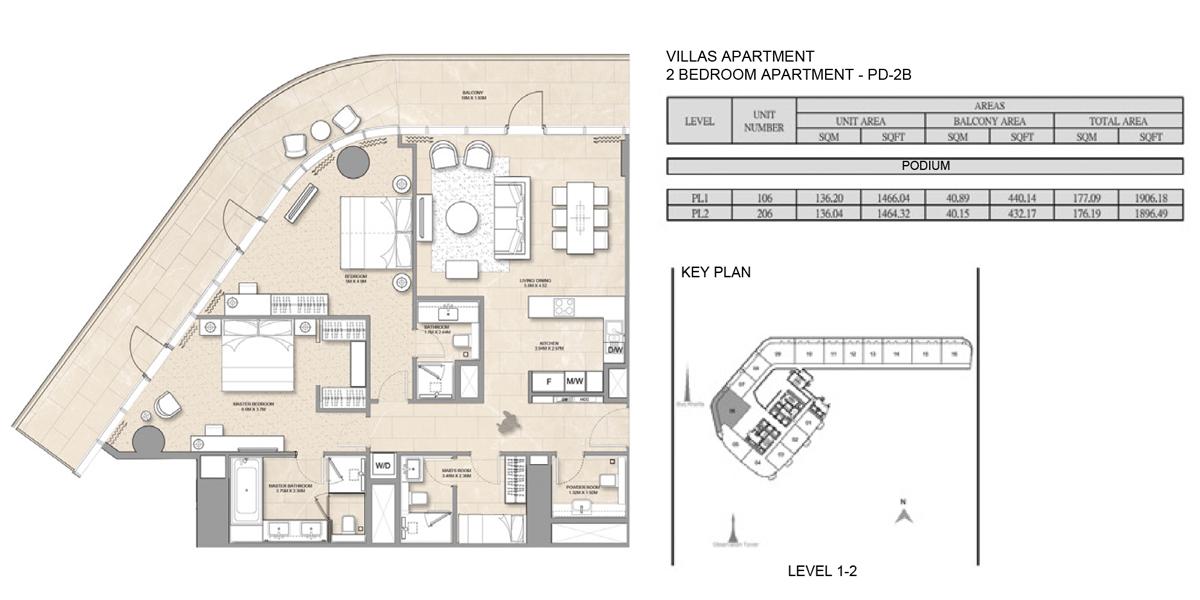 Villa-Apartment-2 Bed-PD-2B