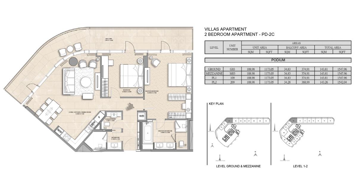 Villa-Apartment-2 bed-PD-2C