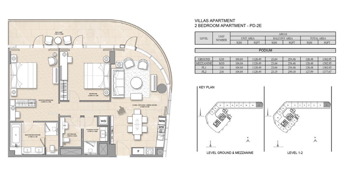 Villa-Apartment-2 bed-PD-2E
