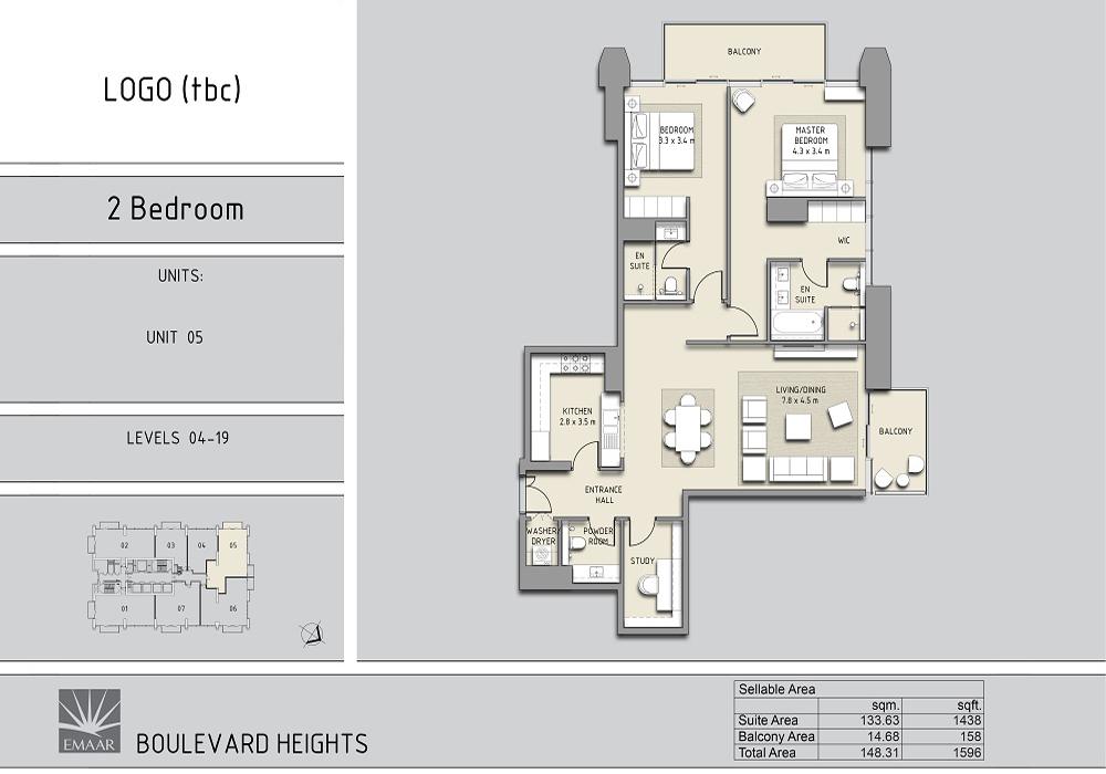 2 Bedroom Apartments Unit - 5, L - 4-19