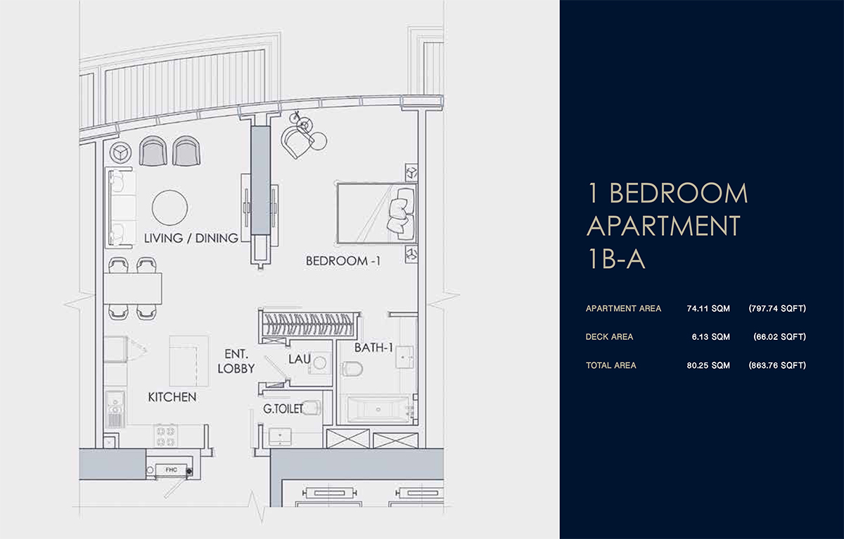 1 BEDROOM APARTMENT 1B-A