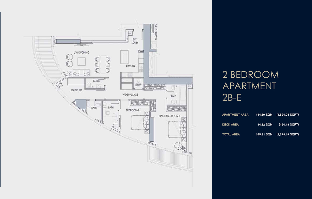 2 BEDROOM APARTMENT 2B-E
