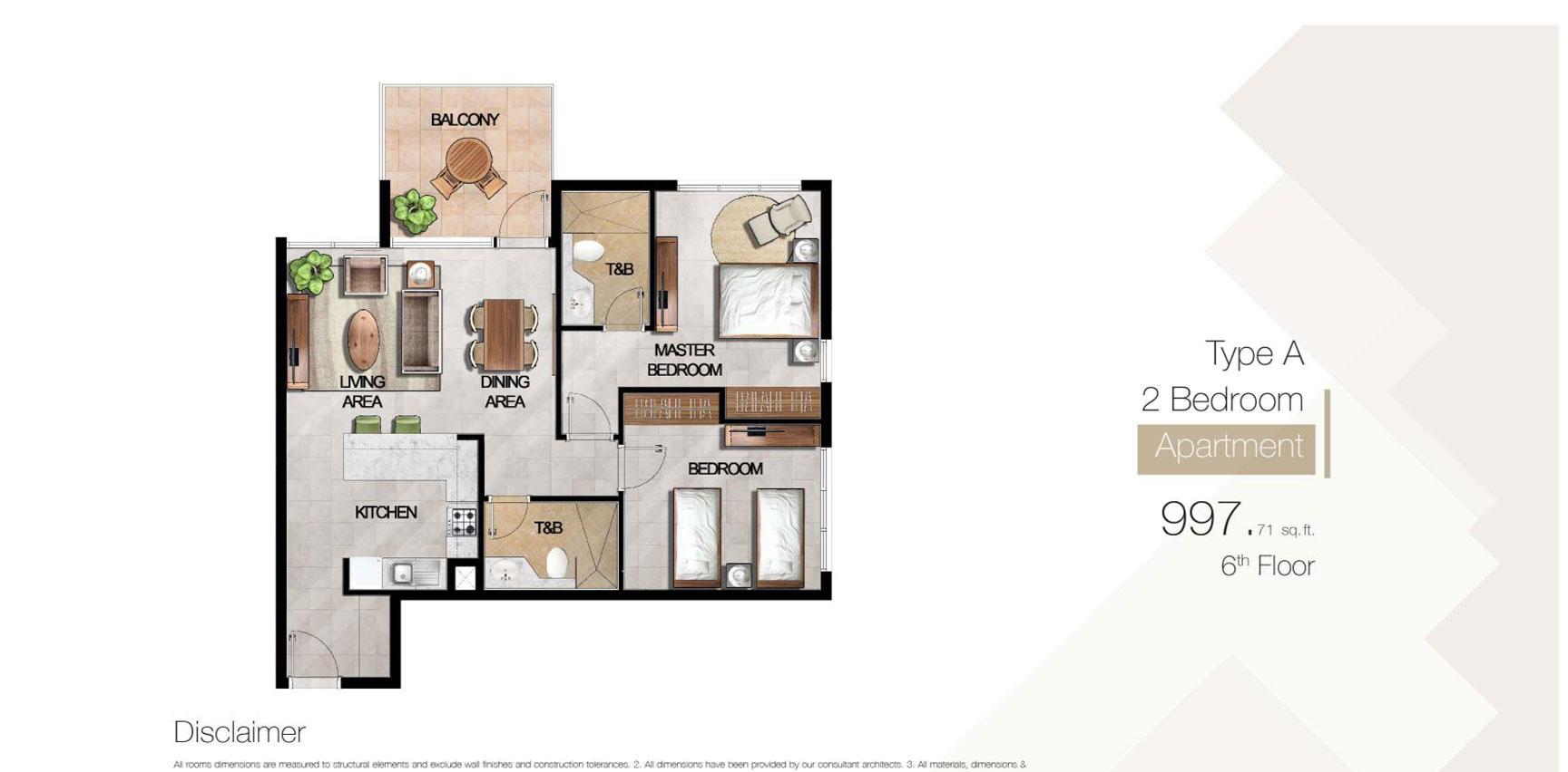 Type-A-2-Bedroom