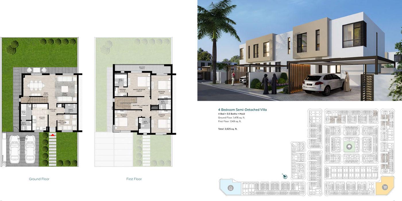 Semi Detach Villa 4 Bedroom Premier Size 2625 sq ft
