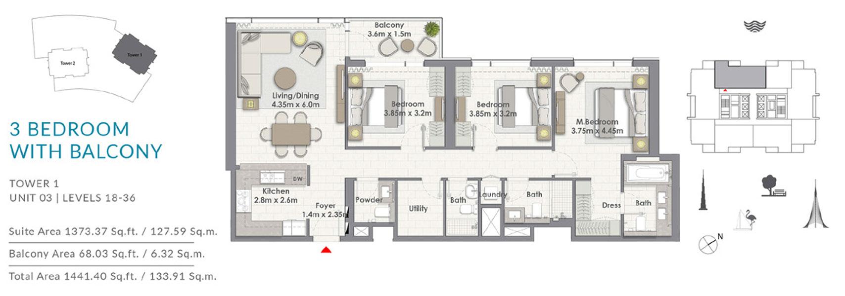 3BR-Balcony-T1-U3-L-18-36