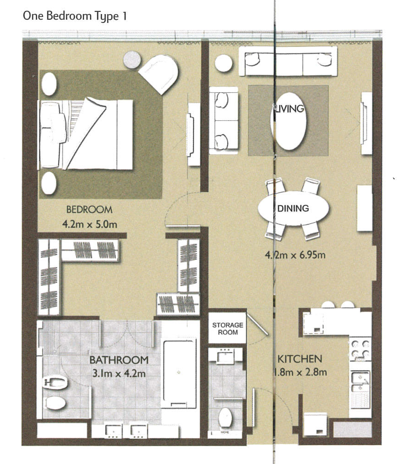 1 Bedroom Type-1