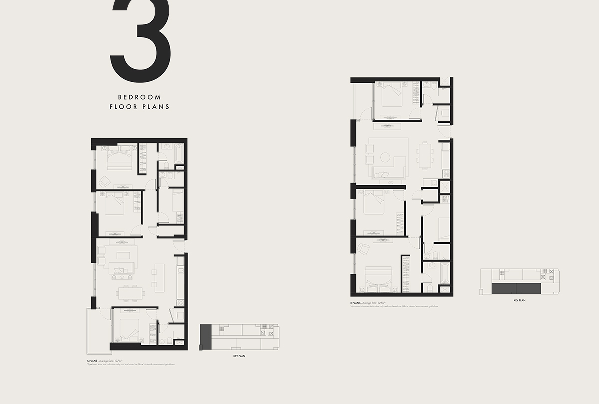 3 Bedroom Floor Plans