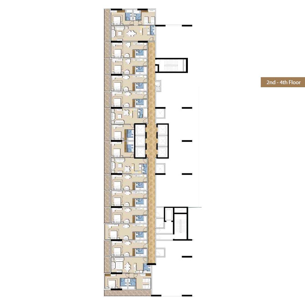 2nd & 4th-floor plan