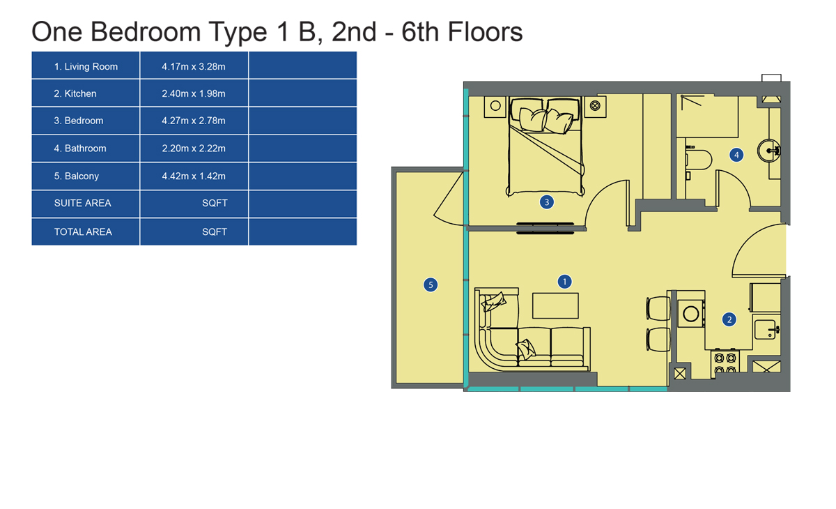1bd-ty1-2nd to 6th-floor