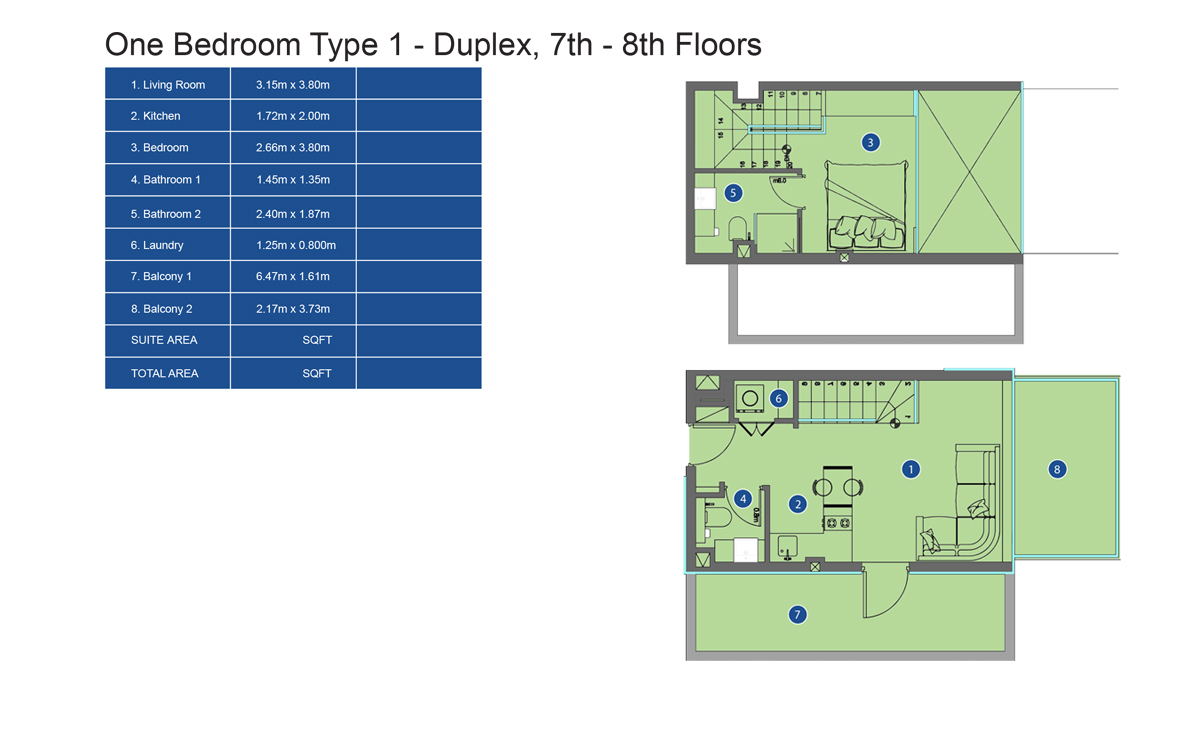 1 bed-ty1-duplex-7th to 8th-floor