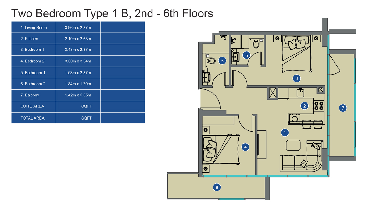 2 bed-ty1-2nd to 6th-floor