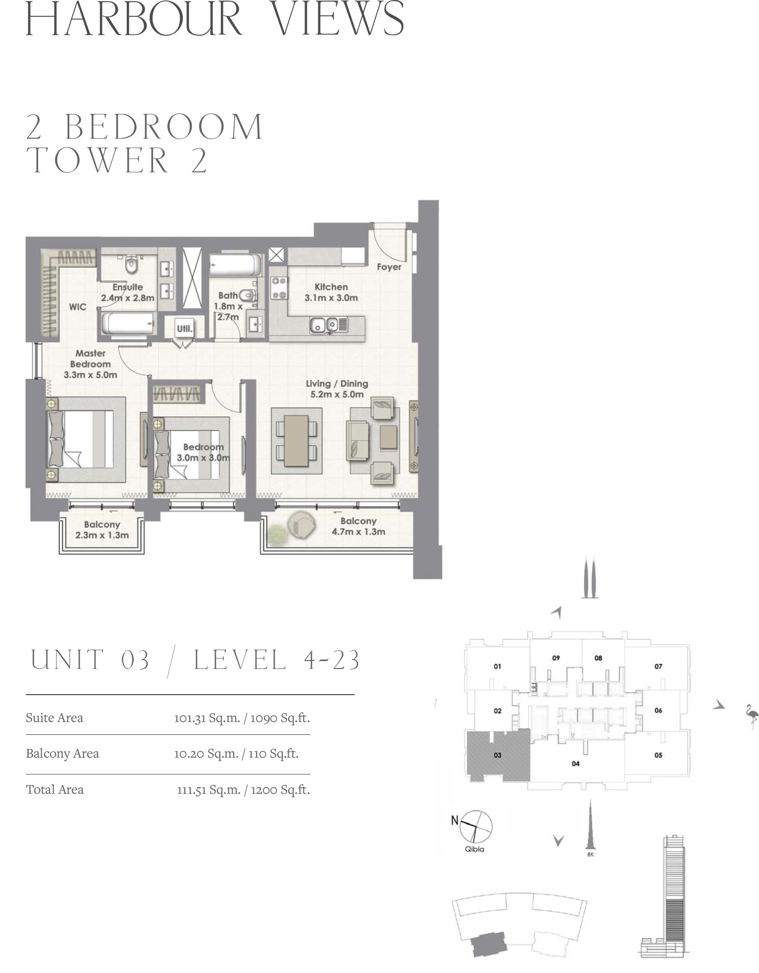 2 Bedroom Tower 2, Unit 03/Level 4-23