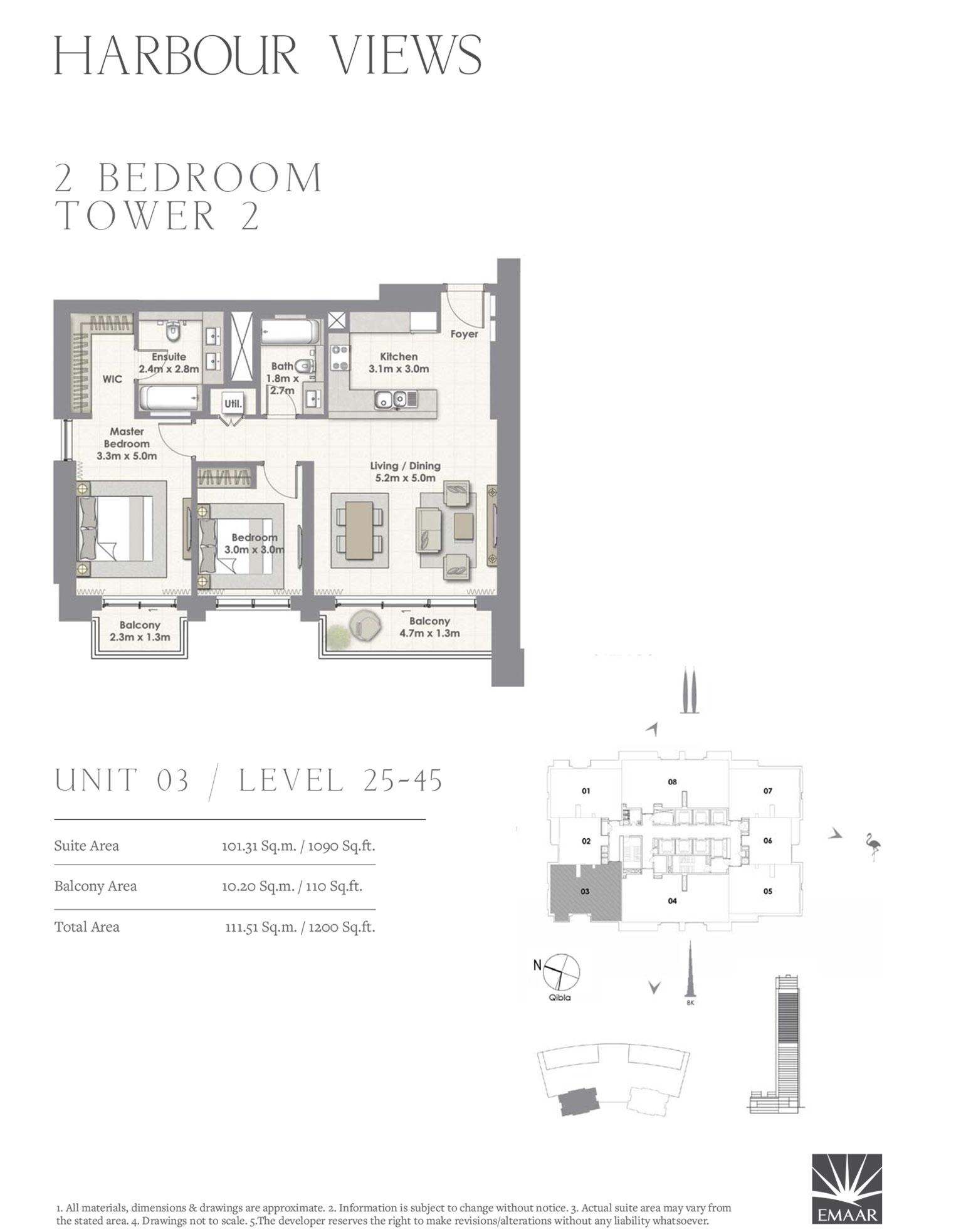 2 Bedroom Tower 2, Unit 03/Level 25-45