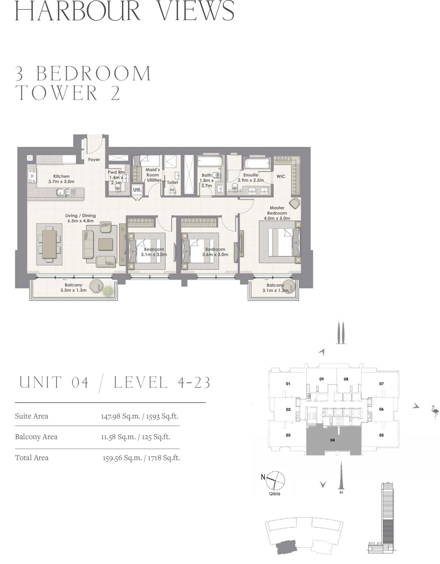 3 Bedroom Tower 2, Unit 04/Level 4-23