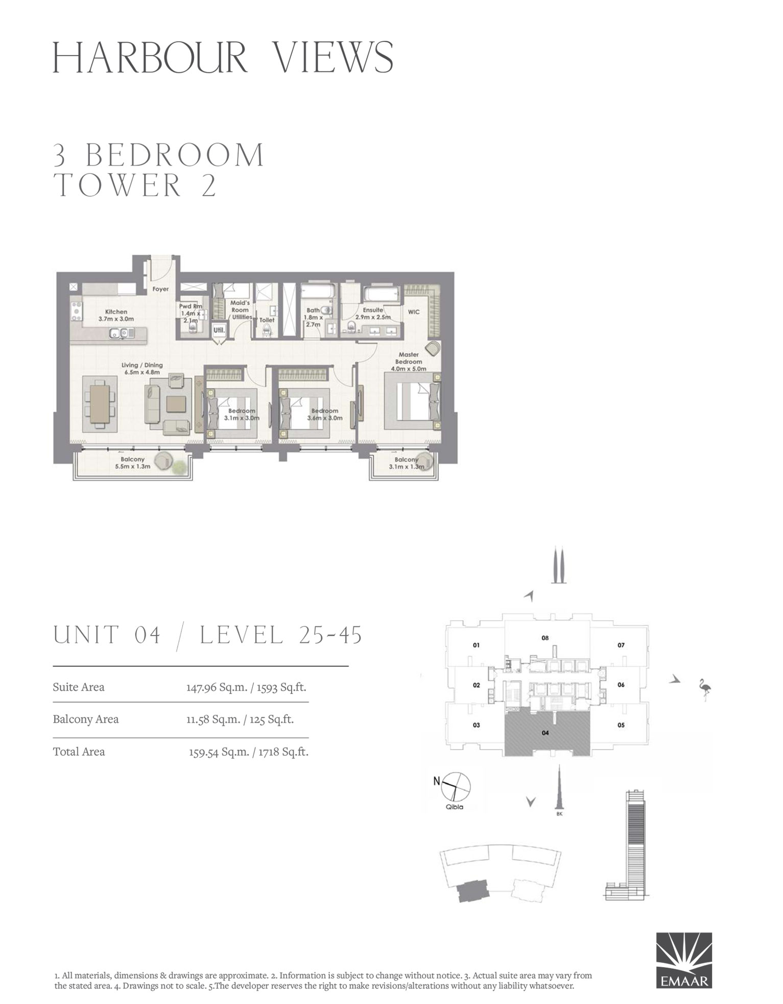 3 Bedroom Tower 2, Unit 04/Level 25-45