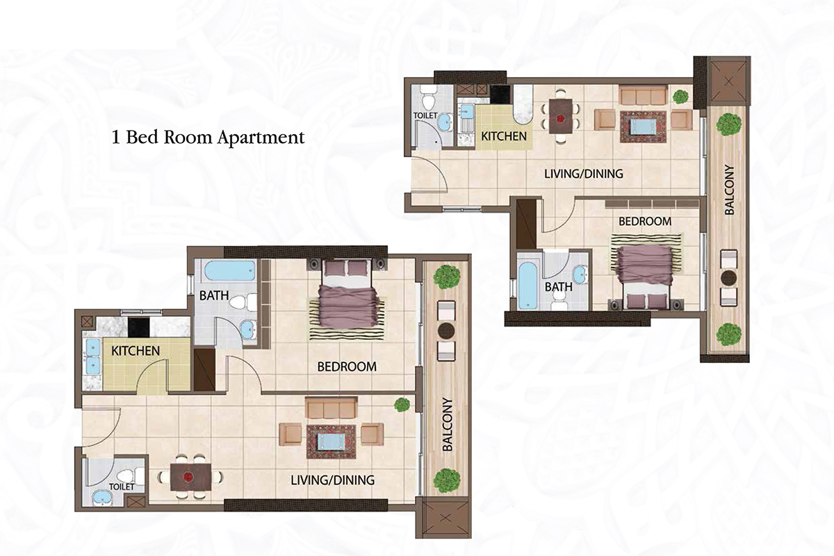 1 Bedroom  Apartments