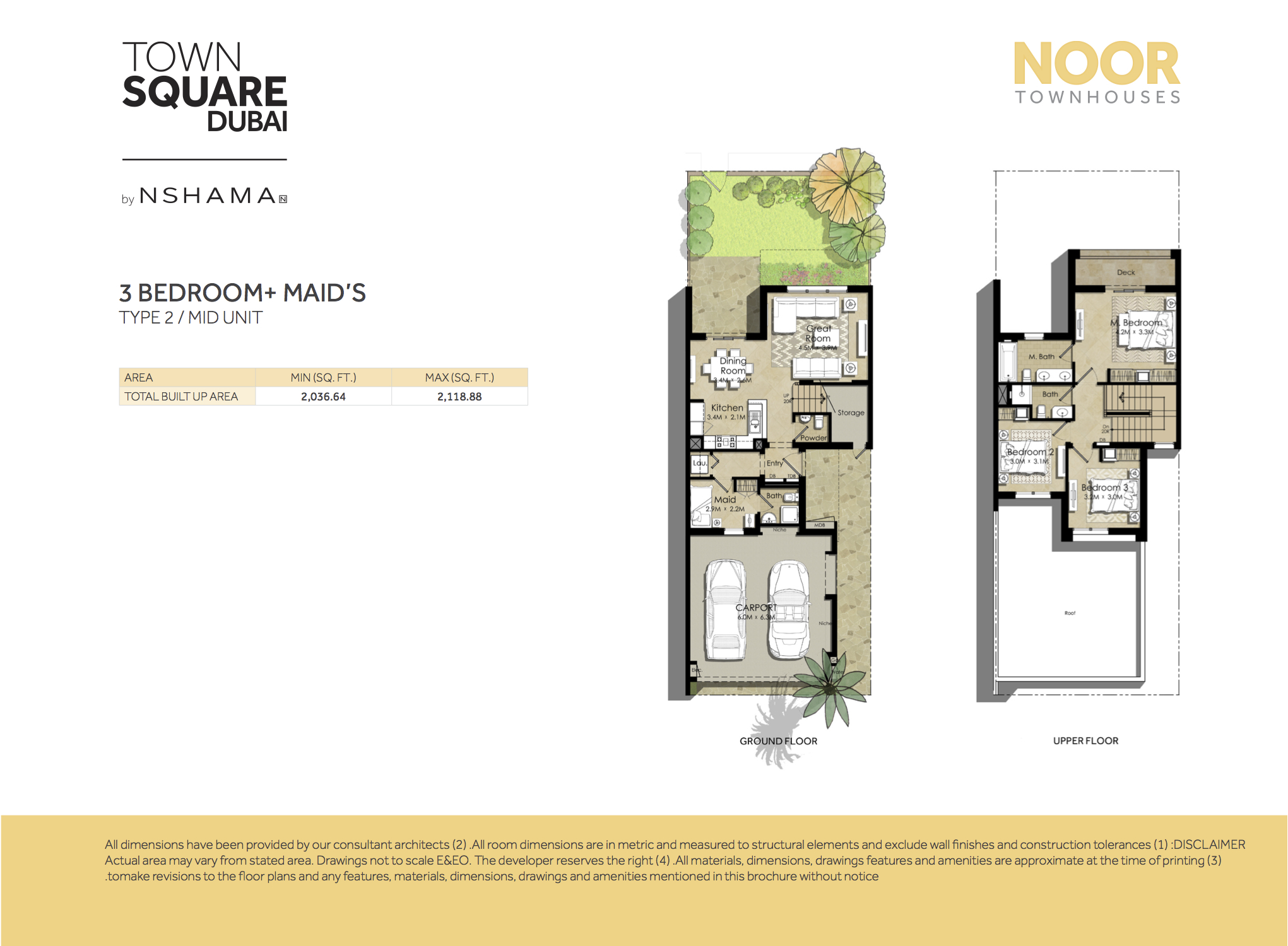 3 Bed MID UNIT-MAIDS ROOM