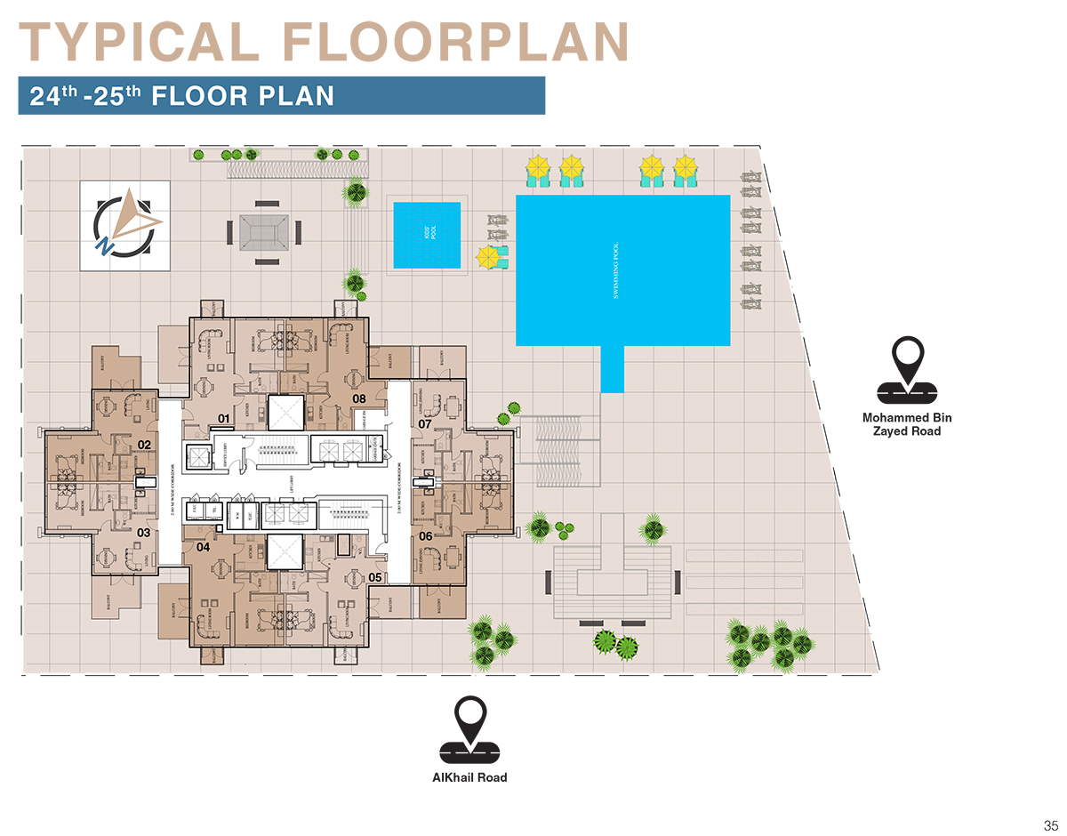 Typical Floor Plan - 24th to 25th Floor