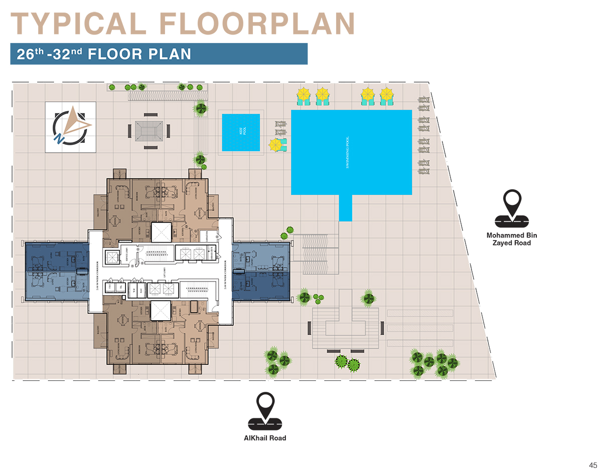 Typical Floor Plan - 26th to 32nd Floor