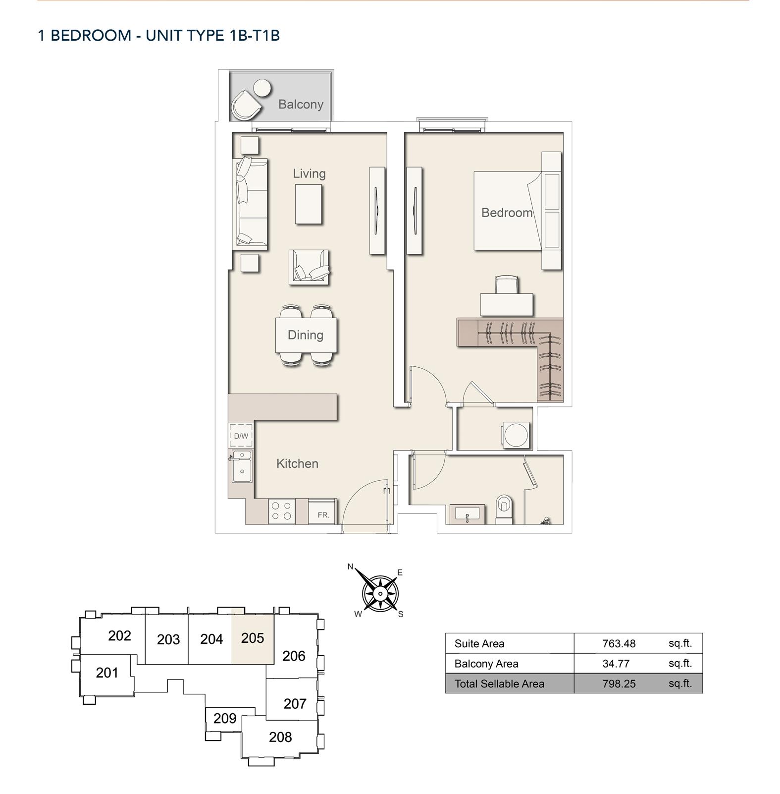 1bedroom-unittype-1b-t1b