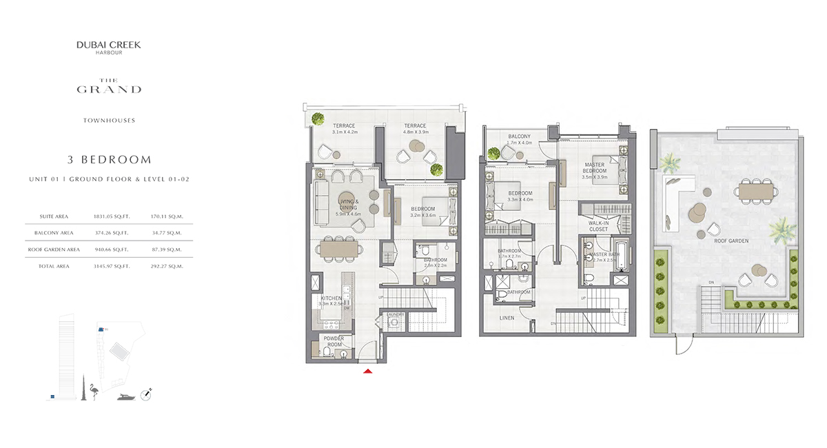 3 Bedroom Size 3145.97 sq.ft