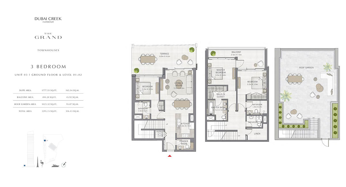 3 Bedroom Size 3295.15 sq.ft