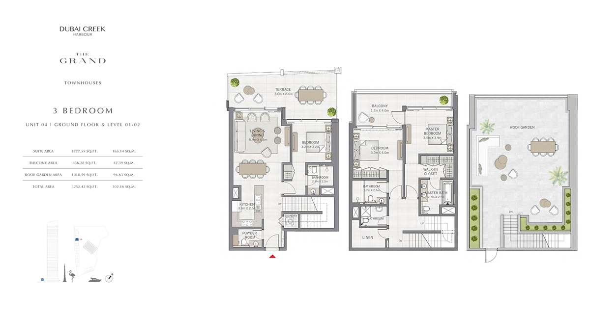 3 Bedroom Size 3252.42 sq.ft