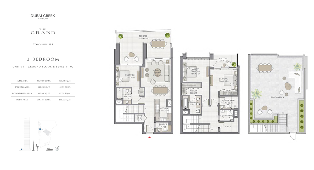 3 Bedroom Size 3193.11 sq.ft