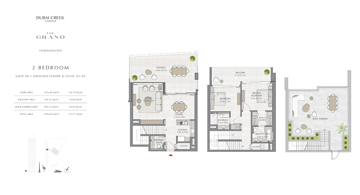 2 Bedroom Size 2946.84 sq.ft