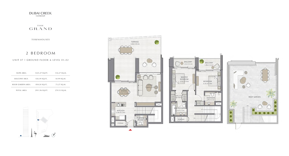 2 Bedroom Size 2911.96 sq.ft