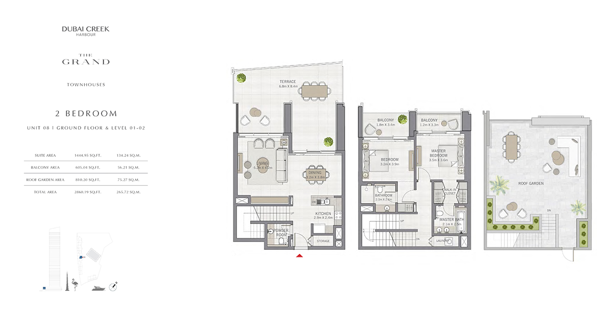 2 Bedroom Size 2860.19 sq.ft