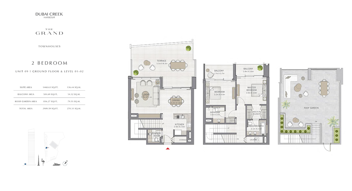 2 Bedroom Size 2909.59 sq.ft