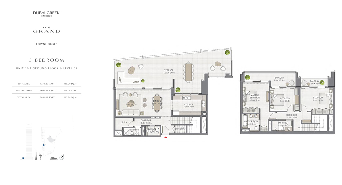 3 Bedroom Size 2841.03 sq.ft