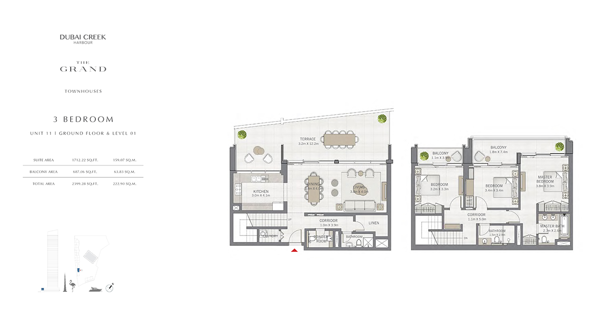 3 Bedroom Size 2399.28 sq.ft