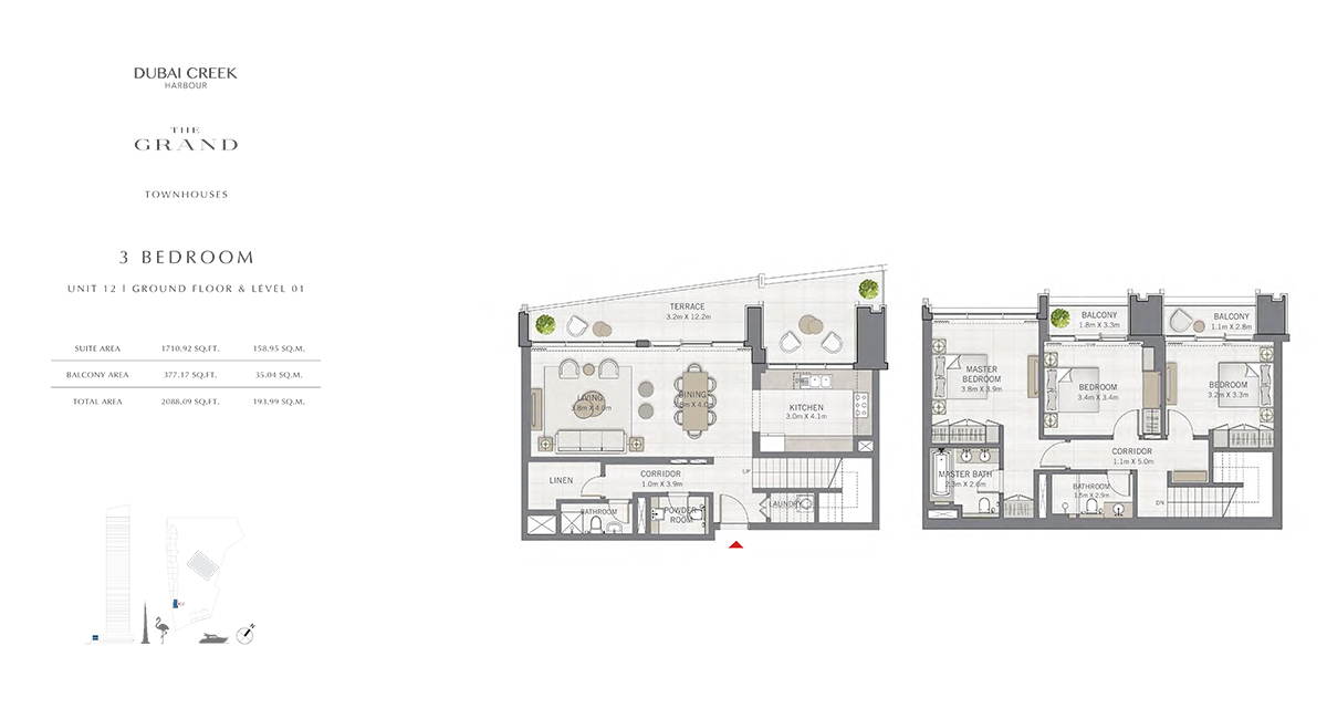 3 Bedroom Size 2088.09 sq.ft