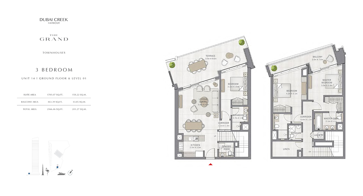 3 Bedroom Size 2166.46 sq.ft