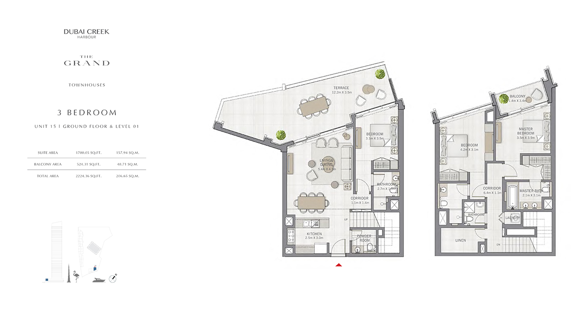 3 Bedroom Size 2224.36 sq.ft