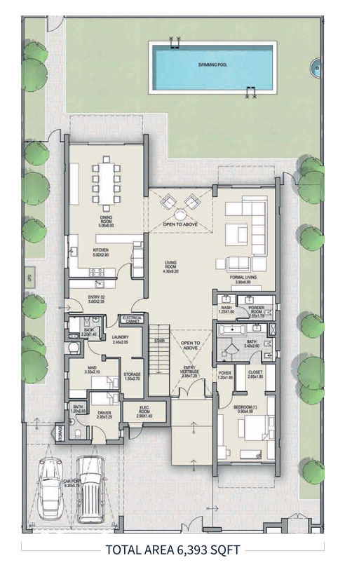 Type-A, Ground-4-Bed,-Size-6393-sq.ft